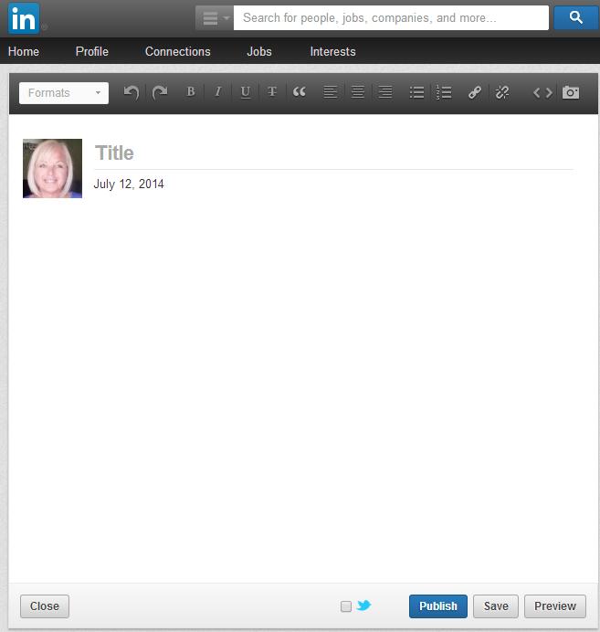 Linkedin How to create a Blog post