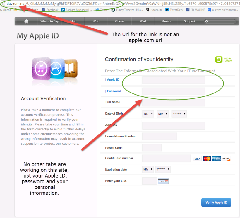 Apple ID Scam 2