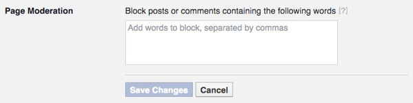 Block words from Fans on your Facebook Business Page